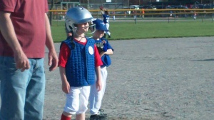 I love the way the little ones look in their big helmets.  It reminds me of bobble heads!