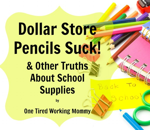 Dollar Store Pencils Suck