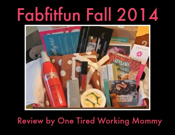 Fabfitfun Fall 2014- A Box of Fun!