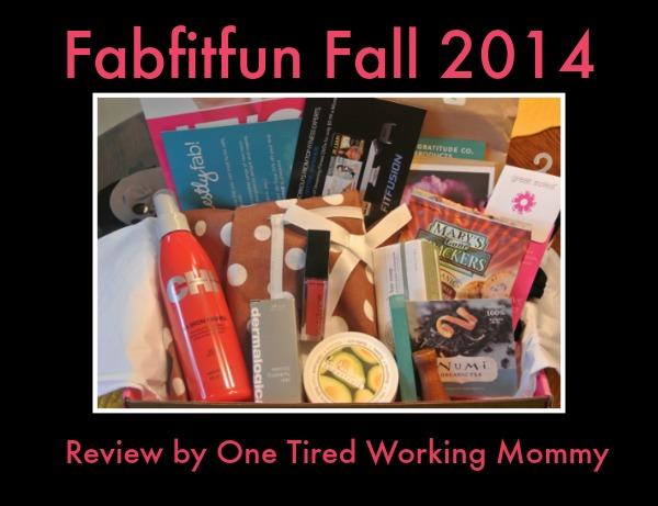 Fabfitfun Fall 2014- A Box of Fun!