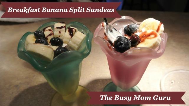 Breakfast Banana Split Sundeas